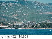 Montenegro, Budva, View of the complex of VIP apartments Dukley Gardens on the Adriatic coast (2017 год). Стоковое фото, фотограф Алексей Голованов / Фотобанк Лори