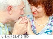 Portrait of a beautiful happy couple in love. Стоковое фото, фотограф Акиньшин Владимир / Фотобанк Лори