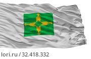 Купить «Distrito Federal City Flag, Country Brasil, Isolated On White Background», фото № 32418332, снято 5 июня 2020 г. (c) easy Fotostock / Фотобанк Лори