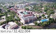 Купить «Aerial panoramic view of Yegoryevsk city in Moscow oblast of Russia», видеоролик № 32422004, снято 12 мая 2019 г. (c) Яков Филимонов / Фотобанк Лори