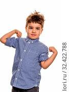Kleiner Junge in Pose, Symbol für Kindheit, Unbeschwertheit, Zukunft. Стоковое фото, фотограф Zoonar.com/Erwin Wodicka / age Fotostock / Фотобанк Лори