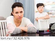 Купить «Sad woman after discord with son», фото № 32426976, снято 28 марта 2019 г. (c) Яков Филимонов / Фотобанк Лори