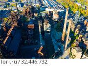 Купить «Closed metallurgical plant in Vitkovice, Ostrava, Czech Republic», фото № 32446732, снято 17 октября 2019 г. (c) Яков Филимонов / Фотобанк Лори