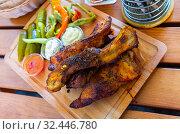 Купить «Pecena veprova zebra, czech cuisine», фото № 32446780, снято 21 ноября 2019 г. (c) Яков Филимонов / Фотобанк Лори