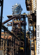Купить «Old steel factory in area Dolni Vitkovice», фото № 32446804, снято 6 декабря 2019 г. (c) Яков Филимонов / Фотобанк Лори