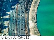 The Concrete beach on Michigan and interstate 41 (2018 год). Стоковое фото, фотограф Сергей Новиков / Фотобанк Лори