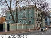 City estate of the merchant of the first guild Y. M. Schlossberg (2019 год). Редакционное фото, фотограф Алексей Голованов / Фотобанк Лори