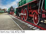 Купить «В музее паровозов в Нижнем Новгороде», фото № 32472708, снято 26 сентября 2019 г. (c) Александр Романов / Фотобанк Лори