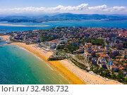 Aerial view of Santander, Spain (2019 год). Стоковое фото, фотограф Яков Филимонов / Фотобанк Лори