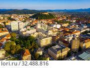 Capital of Slovenia Ljubljana (2019 год). Стоковое фото, фотограф Яков Филимонов / Фотобанк Лори