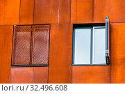 Ein Gebäude der neuen WU in Wien. Die Wirtschaftsuniversität wurde neu erreichtet. Стоковое фото, фотограф Zoonar.com/Erwin Wodicka / age Fotostock / Фотобанк Лори