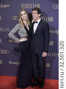 Купить «Antonio Banderas, Nicole Kimpel attends the Vanity Fair 'Person of the year 2019' at Royal Theatre on November 25, 2019 in Madrid, Spain», фото № 32501320, снято 25 ноября 2019 г. (c) age Fotostock / Фотобанк Лори