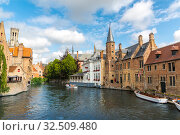 Belgium, Brugge, West Flanders, panorama (2019 год). Стоковое фото, фотограф Tryapitsyn Sergiy / Фотобанк Лори