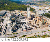 Cement production plant. Стоковое фото, фотограф Яков Филимонов / Фотобанк Лори