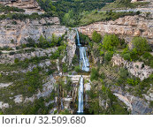 Купить «Image of waterfall on Sant Miquel del Fai», фото № 32509680, снято 5 мая 2018 г. (c) Яков Филимонов / Фотобанк Лори