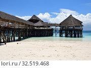 Купить «Beach cafe. Kendwa resort, Zanzibar, Tanzania, Africa», фото № 32519468, снято 3 октября 2019 г. (c) Знаменский Олег / Фотобанк Лори