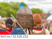 Russia, Samara, July 2019: an ethno-historical holiday with a reconstruction of the battle of Timur and Tokhtamysh in 1391. The participants of the festival. Стоковое фото, фотограф Акиньшин Владимир / Фотобанк Лори