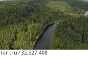 Купить «Gauja River in Europe Latvia National Park 4K Drone shot», видеоролик № 32527408, снято 11 сентября 2019 г. (c) Aleksejs Bergmanis / Фотобанк Лори