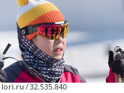 Купить «Portrait of Korean sportswoman biathlete Lee Hyunju South Korea during Regional junior biathlon competitions East of Cup», фото № 32535840, снято 14 апреля 2019 г. (c) А. А. Пирагис / Фотобанк Лори