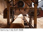 Woodworking machine, nobody, lumber industry. Стоковое фото, фотограф Tryapitsyn Sergiy / Фотобанк Лори