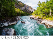 Купить «Behemoth River Rapid on the Chuya River, Mountain Altai, Russia», фото № 32538020, снято 13 сентября 2019 г. (c) Вадим Орлов / Фотобанк Лори
