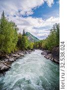 Купить «Behemoth River Rapid on the Chuya River, Mountain Altai, Russia», фото № 32538024, снято 13 сентября 2019 г. (c) Вадим Орлов / Фотобанк Лори