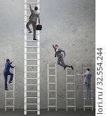 Купить «Competition concept with businessman beating competitors», фото № 32554244, снято 3 июля 2020 г. (c) Elnur / Фотобанк Лори