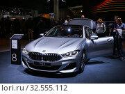 Купить «BMW M850i Gran Coupe», фото № 32555112, снято 18 сентября 2019 г. (c) Art Konovalov / Фотобанк Лори