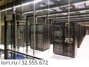 Купить «Server room in Supercomputing Center of Barcelona», фото № 32555672, снято 16 января 2018 г. (c) Яков Филимонов / Фотобанк Лори