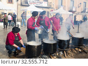 The festive day l'escudella de Castelltersol of Catalonia (2018 год). Редакционное фото, фотограф Яков Филимонов / Фотобанк Лори