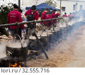 Festa de l'escudella de Castelltersol of Catalonia, Spain (2018 год). Редакционное фото, фотограф Яков Филимонов / Фотобанк Лори
