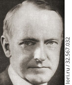 Calvin Coolidge, 1872-1933. American politician, lawyer and 30th president of the United States of America. From The Pageant of the Century, published 1934. Редакционное фото, фотограф Classic Vision / age Fotostock / Фотобанк Лори