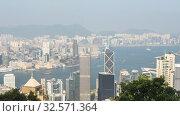 Купить «Hong Kong city view from the peak, timelapse», видеоролик № 32571364, снято 8 ноября 2019 г. (c) Игорь Жоров / Фотобанк Лори