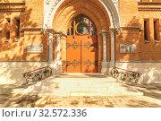 Temple of the Sacred Heart of Jesus. The Polish church (1902-1906) . Стоковое фото, фотограф Акиньшин Владимир / Фотобанк Лори