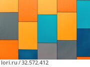 Купить «Wall from multi-colored panels background.», фото № 32572412, снято 9 марта 2017 г. (c) Акиньшин Владимир / Фотобанк Лори