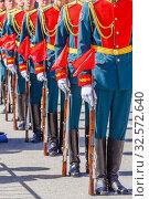 Купить «Form of honor guard in the Russian army.», фото № 32572640, снято 7 мая 2017 г. (c) Акиньшин Владимир / Фотобанк Лори