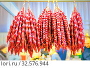 Купить «The ancient Georgian national delicacy is sold at the fair.», фото № 32576944, снято 21 апреля 2017 г. (c) Акиньшин Владимир / Фотобанк Лори
