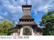 Entrance to monastery in Barsana village, located in Maramures County of Romania. Стоковое фото, фотограф Konrad Zelazowski / easy Fotostock / Фотобанк Лори