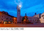 Evening view of the streets of Trento. Italy (2019 год). Стоковое фото, фотограф Яков Филимонов / Фотобанк Лори