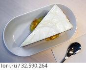 Купить «Slice of delicate carrot cake», фото № 32590264, снято 15 декабря 2019 г. (c) Яков Филимонов / Фотобанк Лори