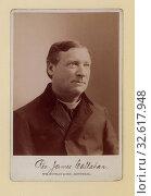 Rev. James Callahan. Photo C. Head-and-shoulders cabinet portrait, right half-profile, 1896. Редакционное фото, фотограф ARTOKOLORO QUINT LOX LIMITED / age Fotostock / Фотобанк Лори