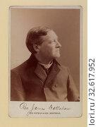 Rev. James Callahan. Photo D. Head-and-shoulders cabinet portrait, right profile, 1896. Редакционное фото, фотограф ARTOKOLORO QUINT LOX LIMITED / age Fotostock / Фотобанк Лори