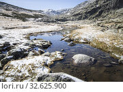 Купить «Gredos mountains way from the platform to the lake Avila Castile Leon Spain.», фото № 32625900, снято 24 октября 2019 г. (c) age Fotostock / Фотобанк Лори