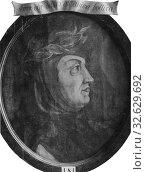 Francesco Petrarca, 1304-1374, painting, Oil on canvas, Height, 49 cm (19.2 inches), Width, 42 cm (16.5 inches) (2019 год). Редакционное фото, фотограф ARTOKOLORO QUINT LOX LIMITED / age Fotostock / Фотобанк Лори