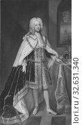 Купить «After Charles Jervas, King Georg II, Georg II, 1683-1760 King of England Curator of Hanover, painting, portrait, George II of Great Britain, Oil on canvas...», фото № 32631340, снято 5 июля 2019 г. (c) age Fotostock / Фотобанк Лори