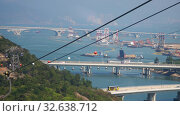 Купить «Ngong Ping cable car with Scenic Hill in background», видеоролик № 32638712, снято 9 ноября 2019 г. (c) Игорь Жоров / Фотобанк Лори