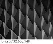Купить «Abstract dark geometric structure, cg background 3 d», иллюстрация № 32650148 (c) EugeneSergeev / Фотобанк Лори