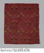 Купить «Fragment, 1601/50, Italy, Silk, satin weave self-patterned by complimentary ground weft floats, 21.25 x 18 cm (8 3/8 x 7 1/4 in.)», фото № 32655676, снято 24 февраля 2020 г. (c) age Fotostock / Фотобанк Лори