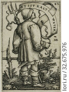 Купить «The Weather-Peasant Es Ist Kalt Weter, 1542, Sebald Beham, German, 1500-1550, Germany, Engraving in black on ivory laid paper, 43 x 29 mm (image/plate), 44 x 30 mm (sheet)», фото № 32675976, снято 27 мая 2020 г. (c) age Fotostock / Фотобанк Лори