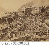 Купить «Johnstown Calamity - Wreck of the Day Express, P.R.R., Conemaugh, Pa., U.S.A., George Barker (American, 1844 - 1894), 1889, Albumen silver print», фото № 32690532, снято 17 июня 2019 г. (c) age Fotostock / Фотобанк Лори